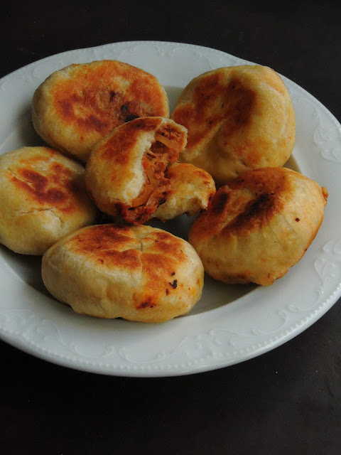 Pan fried Soya Masala Stuffed Buns