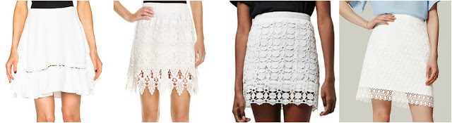 One of these lace skirts is from Chloe for $1,895 and the other three are under $70. Can you guess which one is the designer skirt? Click the links below to see if you are correct!