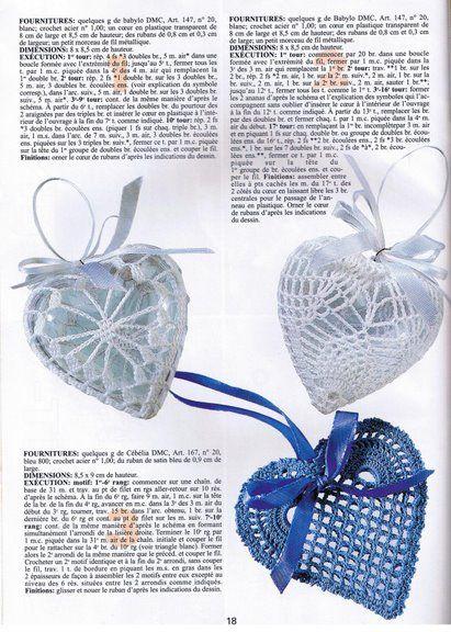 Sachês e enfeites de coração de crochê com gráfico