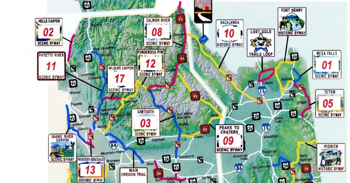 idaho scenic byways map Bq S Motorcycle Adventures Idaho Scenic Byways 2018 Ride idaho scenic byways map