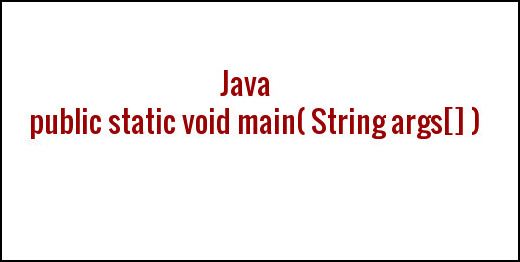 Java Main Method