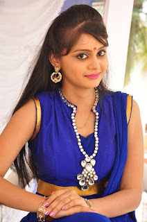 Actress Harisha Krishna Stills in Beautiful Blue Chudiddar  0035.jpg