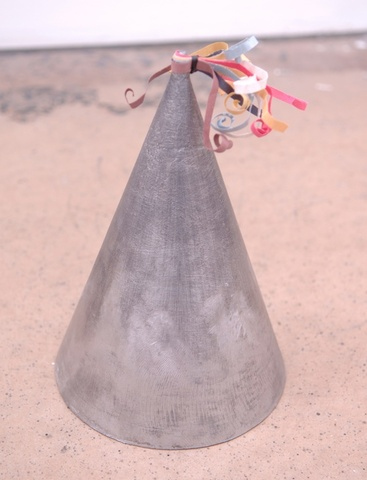Kate Mitchel cement party hat