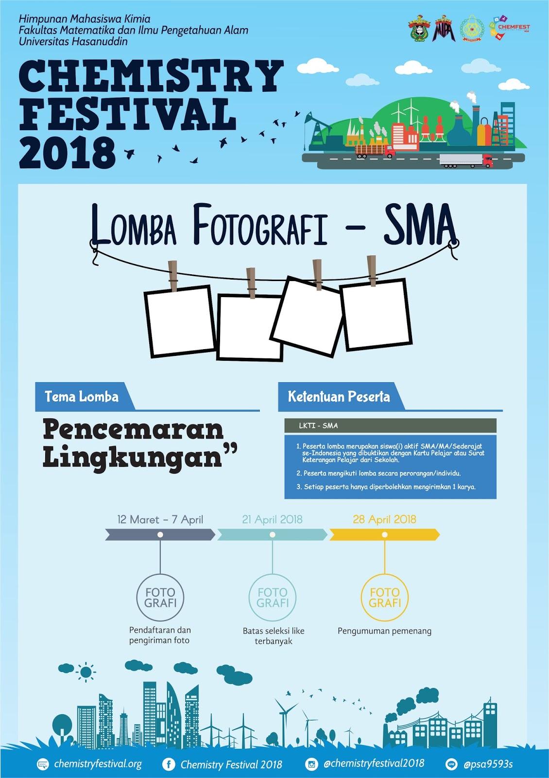Info - Lomba Fotografi CHEMFEST 2018
