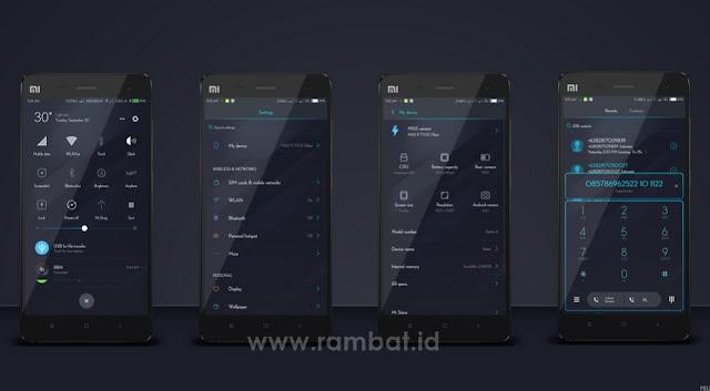 Tema Tembus Aplikasi ROUNDED PIXEL untuk MIUI 9