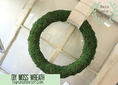 DIY+Moss+Wreath+5 A Colorful Home Tour: Rain on a Tin Roof {Color My Home Summer Blog Series} 20