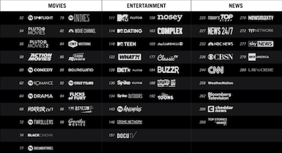 Pluto TV New TV Channels