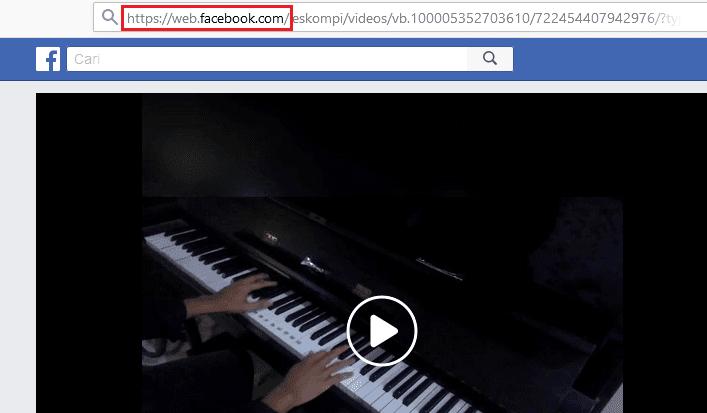 Cara simpan video facebook dari laptop