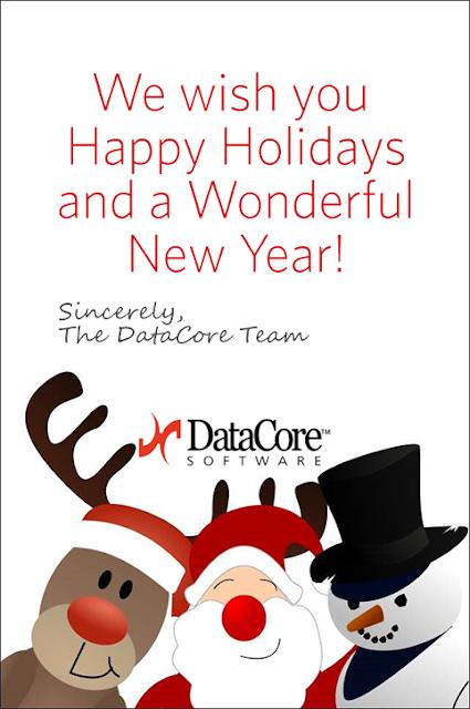 Danke! Fröhliche Weihnachten von DataCore Software