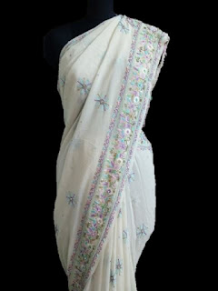MultiColored Parsi work saree
