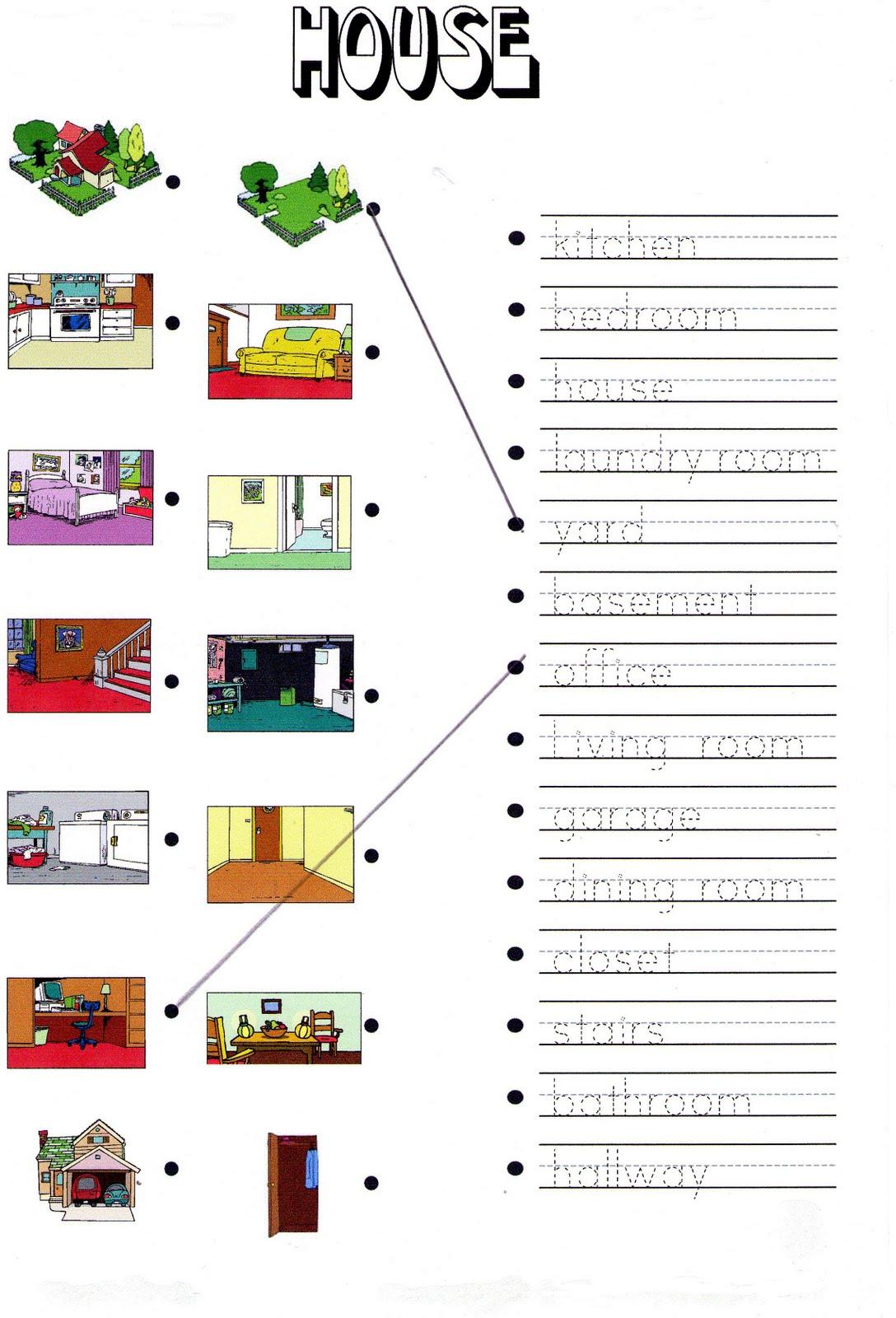 House Rooms Worksheet