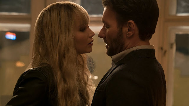 Dominika Egorova (Jennifer Lawrence) et Nate Nash (Joel Edgerton) dans Red Sparrow