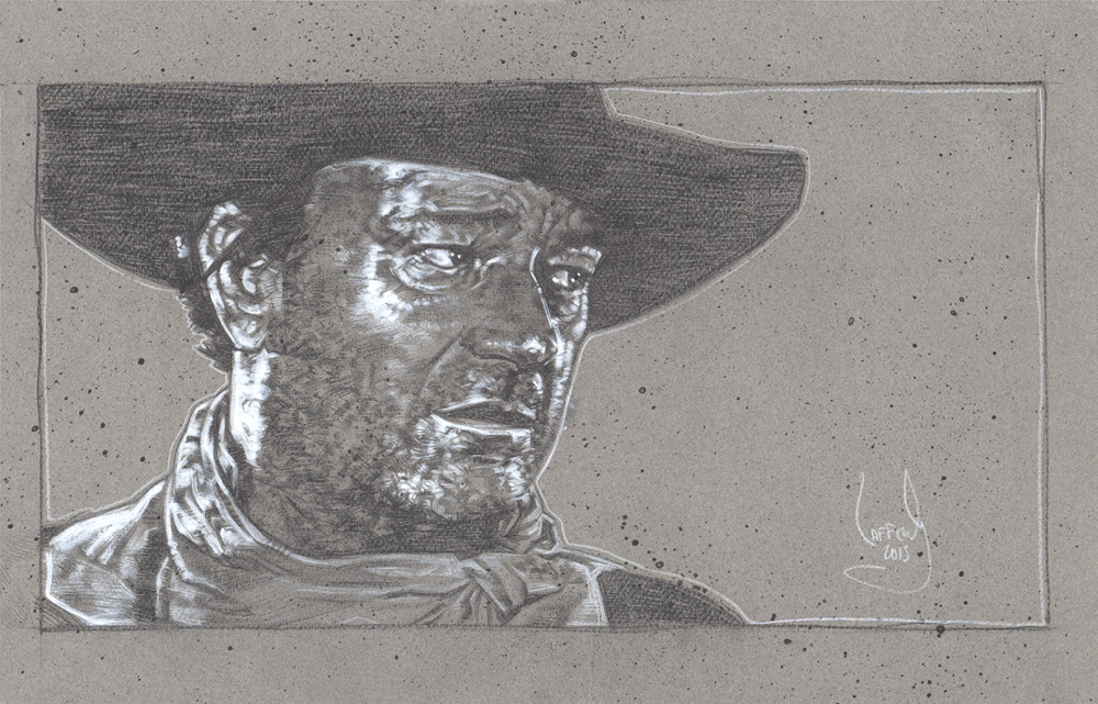 John Wayne Original Artwork Copyright © 2015 Jeff Lafferty
