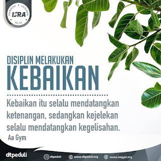 Disiplin Melakukan Kebaikan - Qoutes - Kajian Islam Tarakan