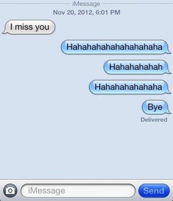 funny breakup text