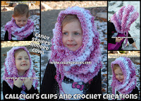 Candy Stripes Hooded Cowl