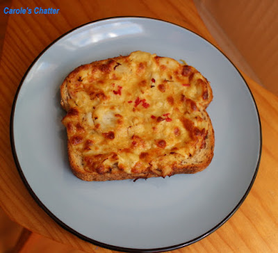 Carole's Chatter: Gingered Crab Rarebit
