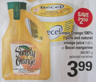 Simply Orange 100% pure and natural orange juice $3.99