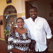 Ghanian Actor John Dumelo Shows Off His Beautiful Mother