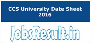 CCS University Date Sheet 2016