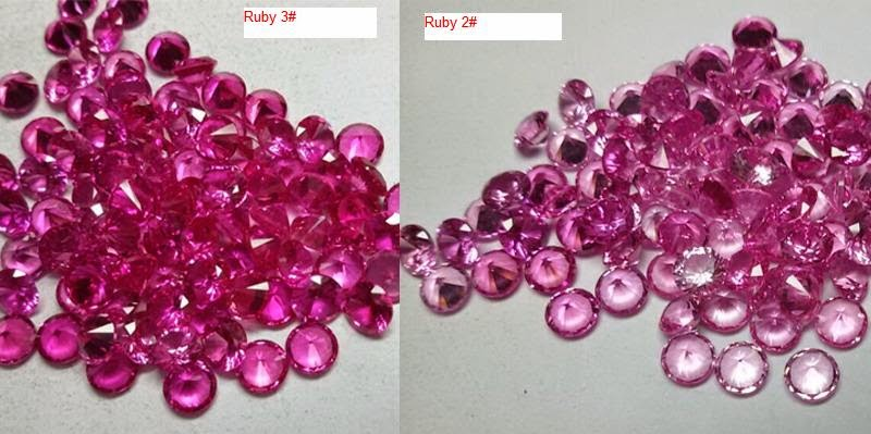 Synthetic Ruby Color 2# VS Synthetic Ruby Color 3#