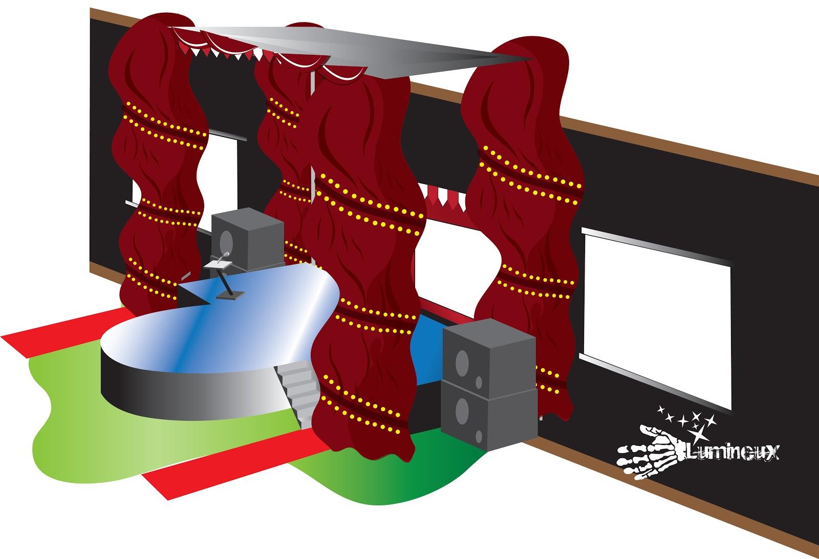 Contoh desain panggung stage design