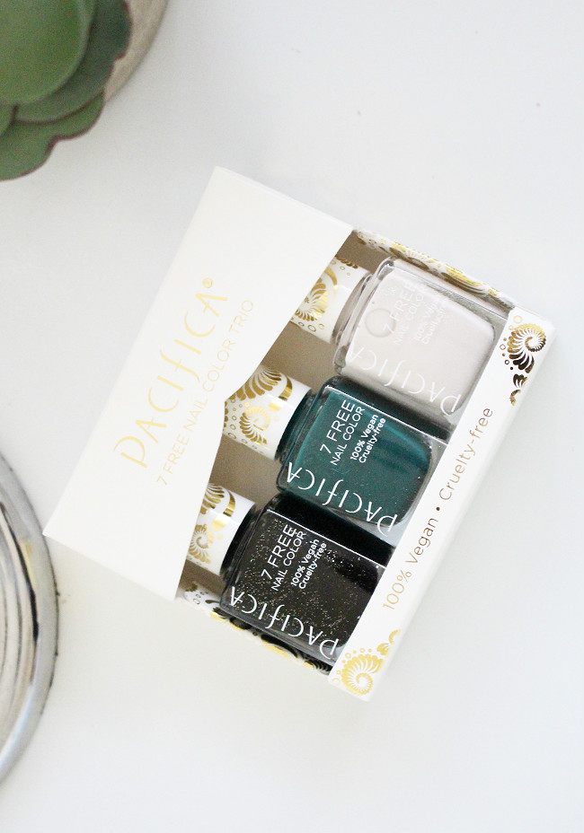 cruelty-free holiday gift ideas, pacifica holiday polish trio