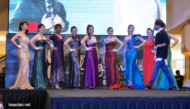 Beautiful mothers, contestants, in their evening gown