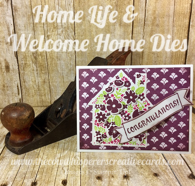 Welcome Home Framelits, Dies, Home Life, Dimensionals, Generation, Stamps, Card