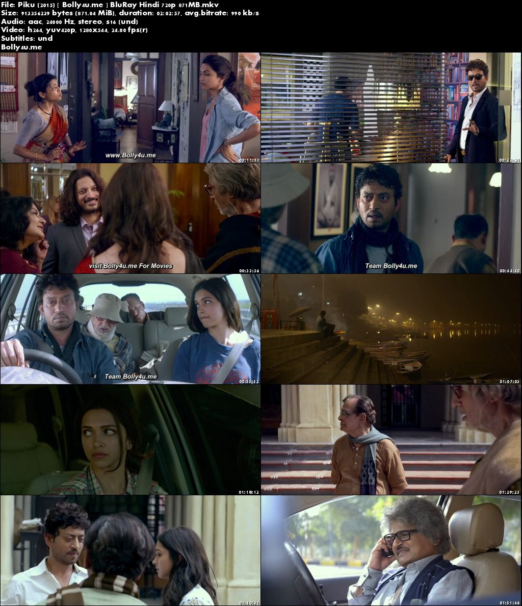 Piku 2015 BluRay 850Mb Full Hindi Movie Download 720p