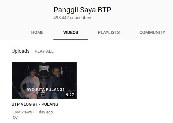 Panggil Saya BTP - Channel