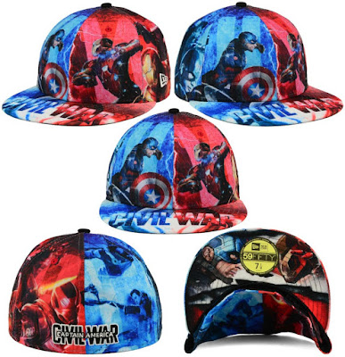 Captain America: Civil War All Over 59FIFTY Fitted Hat by New Era