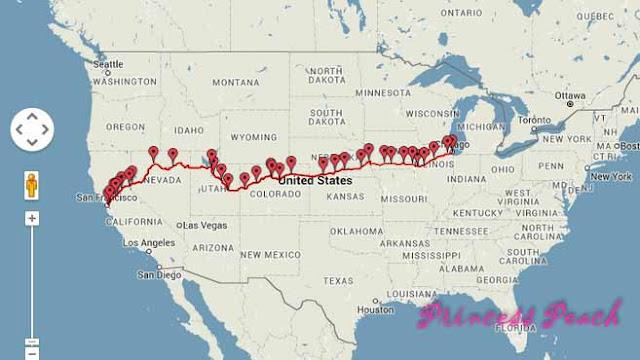 加州微風號路線