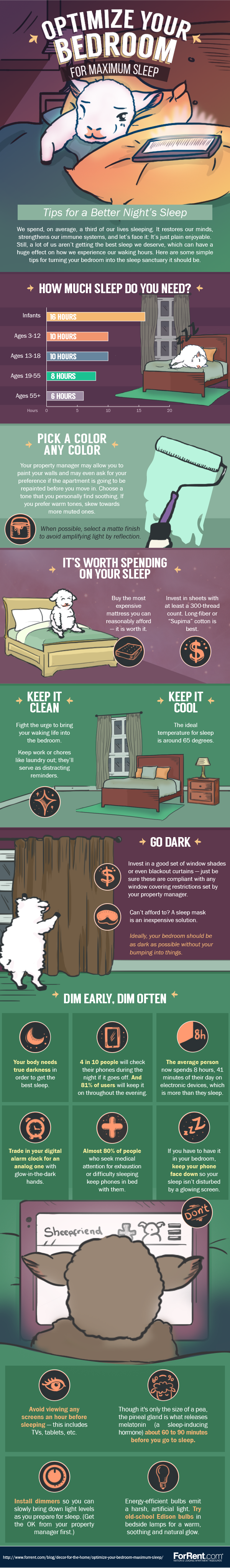 Optimize Your Bedroom for Maximum Sleep #Infographic