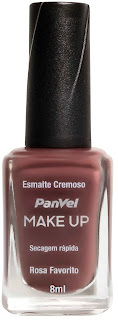 Esmalte Panvel Make Up Rosa Favorito: R$ 4,35