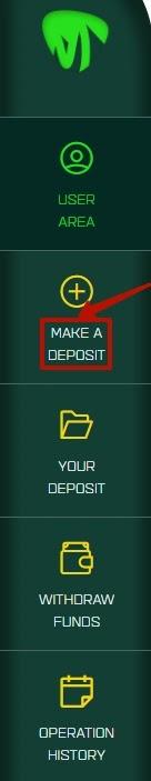 Создание депозита в Cryptoins
