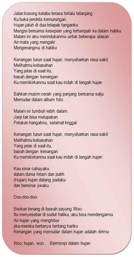 lirik lagu korea terjemah