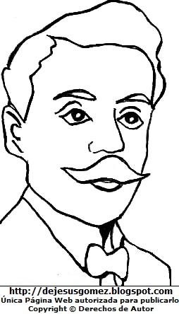 Dibujo Pedro Paulet para colorear pintar imprimir. Imagen de Pedro Paulet hecho por Jesus Gómez