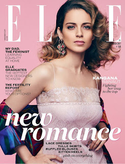 Kangana Ranaut in transparent gown for Elle India March 2017