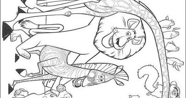 Cartoon Character Coloring Book Pages
