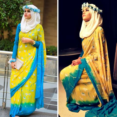 model baju sari india muslim