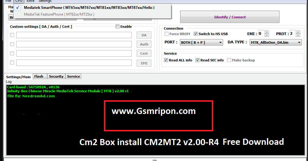 InfinityBox CM2MT2 v2 00-R4 New Update 2018 Without Password