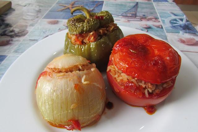 Nadziewane warzywa, czyli γεμιστά