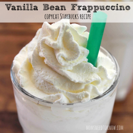 VANILLA BEAN FRAPPUCCINO #drinks #delicious