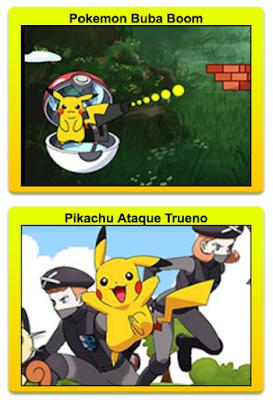 juegos infantiles de aventuras y pelea de pikachu y sus amigos pokemon
