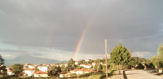 Εντυπωσιακό ουράνιο τόξο σχηματίστηκε στο Τσοτύλι Κοζάνης