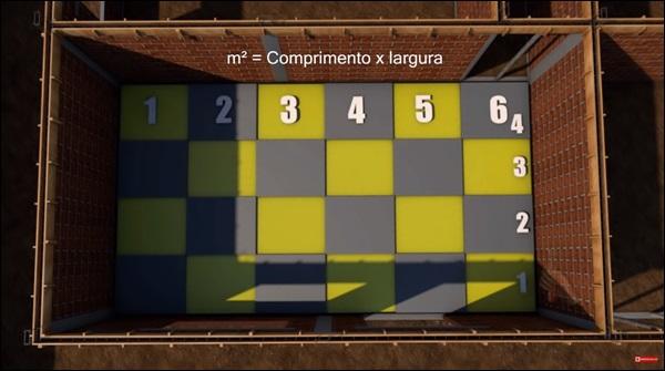 calculo da quantidade de pisos