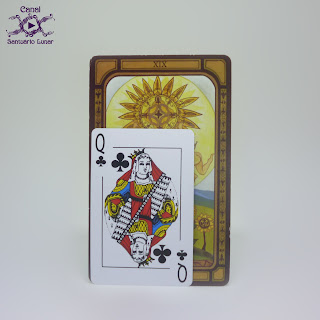 The Golden Tarot (CICO Books) - Size comparison using a common playing card