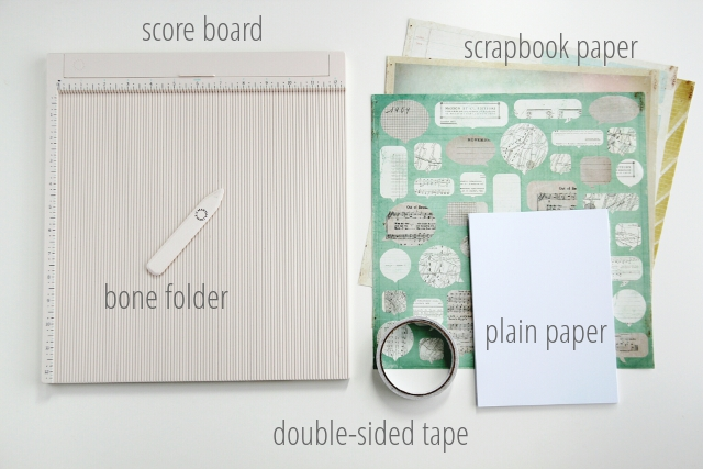 Things you need to make Diy Pocket Notebooks.