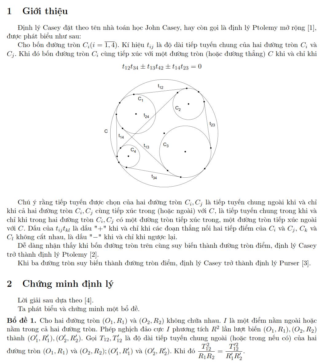Định lý Casey và ứng dụng Nguyễn Văn Linh phần 1